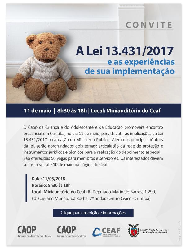 Convite: A Lei 13.431/2017 e as experiências de sua implementação