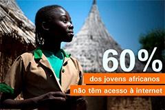 60% dos jovens africanos não têm acesso à internet