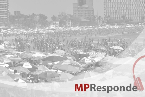 Imagem de praia com a logo MP Responde