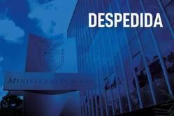 Imagem da sede do MPPR com filtro azul e legenda: Despedida