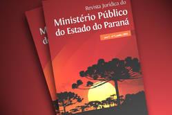 Imagem ilustrativa da capa da oitava edição da Revista Jurídica do Ministério Público do Paraná.