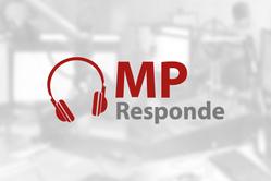 Logotipo do programa MP Responde em fundo branco